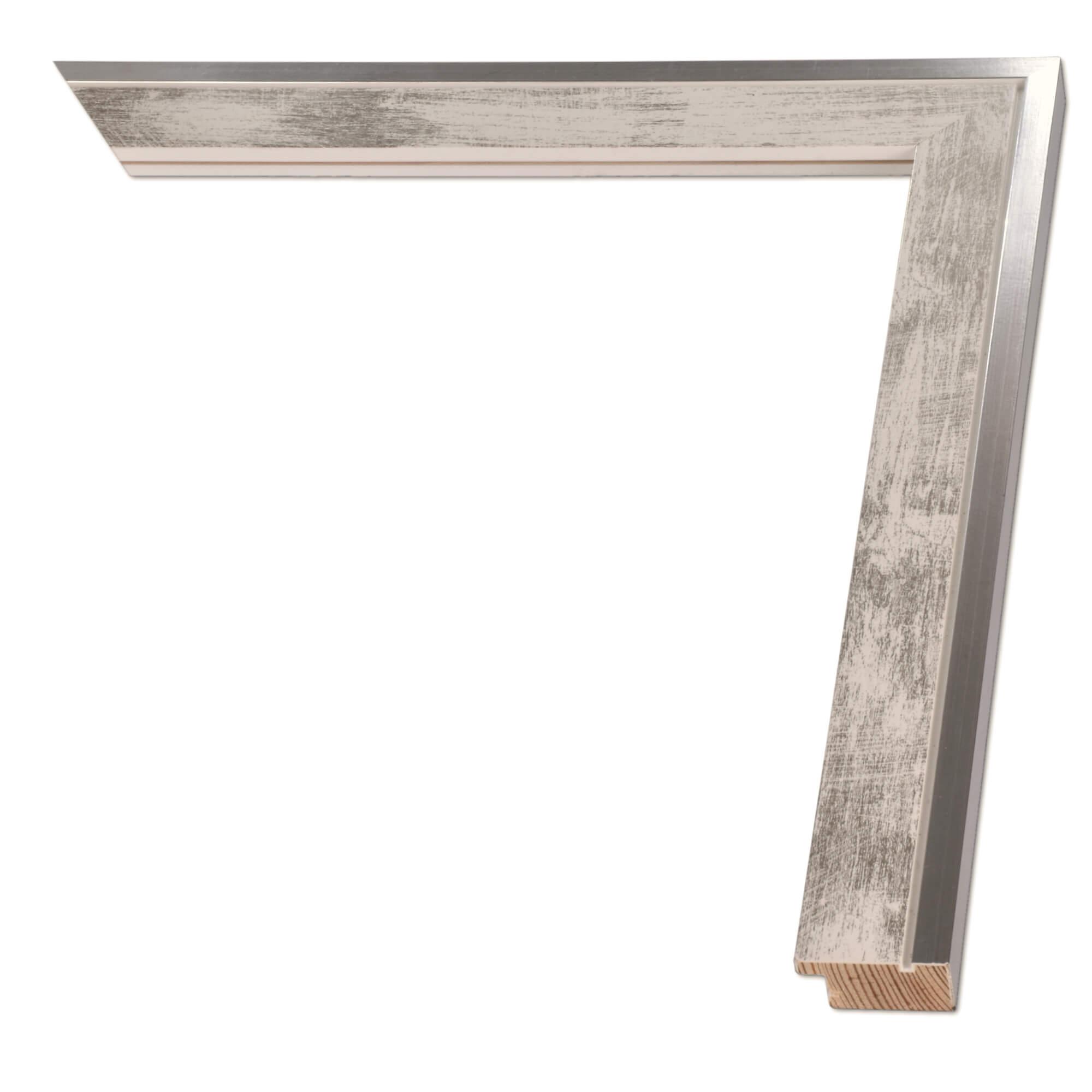 Ramka Na Zdjęcia Obrazy Plakaty Na Wymiar Luca 2487 Współczesna Drewniana Oprawa Panel Kolor Srebrno Biały